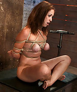Brutally roped, strapon fucked, vibed and face fucked