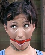Bondage, ball-gag, electrical stimulation