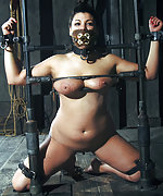 Cuffed, strapped, painfully clamped and gagged