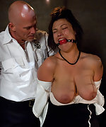 Busty woman arrested, bound, dominated and fucked