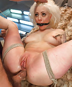 Barbarella in hard bondage and brutal sex