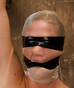 Roped, humiliatingly gagged, clamped and suspended