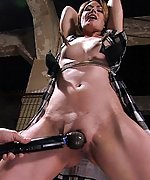 Sarah gets roped, pegged, vibed and fist fucked