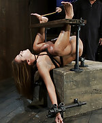 Trapped helplessly and double penetrated