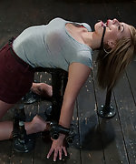 Blond cutie gets fixed, pegged and made to cum