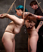 Two girls bound and humiliatingly trained