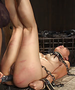 Chained, caned and used as personal fuck doll