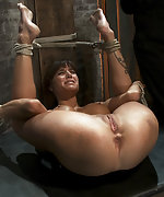 Bound hard and finger fucked to multiple orgasms