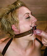 Girl in bondage getting dominated and fucked