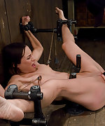 Cuffed, caned and dildoed to cum