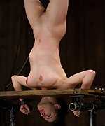 Iona is strung up, fucked, vibed and doused